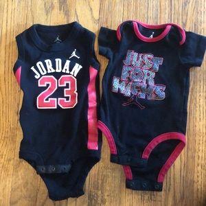 Jordan bodysuits 23 3-6m